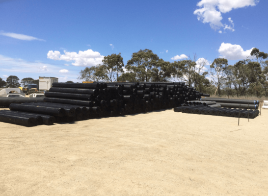 Geogrid for Moorabool Wind Farm Ace Contractors Dec 18