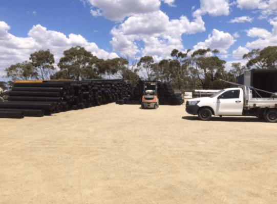 Geogrid for Moorabool Wind Farm Ace Contractors Dec 18