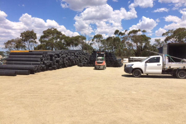 Geogrid getting loaded
